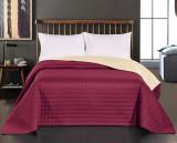 Cuvertura reversibila Salice Burgundy / Cream-170 x 210 cm