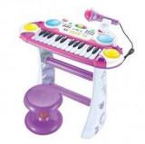 Orga cu scaunel si microfon pentru copii BB335D