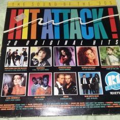 2 Disc vinil, vinyl pickup,HIT ATTACK !THE SOUND OF THE 90 S,ORIGINAL.T.GRATUIT