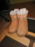 Ghete cizme cismulite captusite de copii Zara Baby Kids marimea 24, Baieti, Coffee