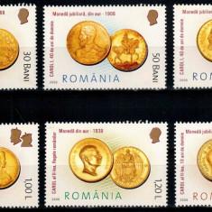 Romania 2006, LP 1710, Monede romanesti de aur, seria, MNH! LP 7,10 lei
