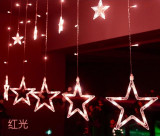 Instalatie Perdea Ghirlanda 12 Stele Luminoase Multicolore 3x1m 138 Led uri
