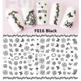 Folie Stickere unghii, model F016 - Black