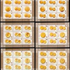 Romania 2006, LP 1710 a, Monede romanesti de aur, minicoli, MNH! LP 62,00 lei, Istorie, Nestampilat