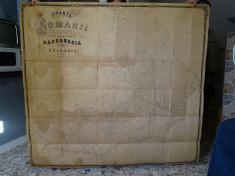 Harta 1861 - Romania Principatele Romane / cartograf Ing. Papazoglu foto