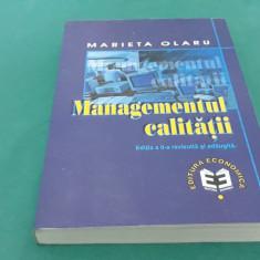 MANAGEMENTUL CALITĂȚII/ MAREITA OLARU/ EDIȚIA A II-A REVZUITĂ/1999