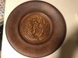 Panoplie veche,franceza din lemn sculptat,fecioara Maria si pruncul