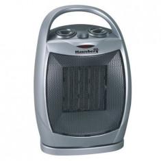 Radiator ceramic Hausberg 1500 W, element de incalzire ceramic, ventilare