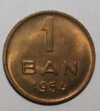 OKAZIE !!! 1 BAN 1954 . UNC . CRAPATURI DE MATRITA PE AVERS-REVERS .