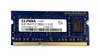 Memorii Laptop Elpida 4GB DDR3 PC3-12800S 1600Mhz foto