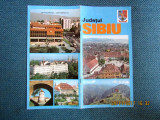 Pliant turistic cu harta, Judetul Sibiu.