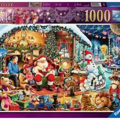 Puzzle Vizita lui Mos Craciun 1000 piese, Ravensburger