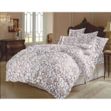 Lenjerie de pat (bumbac 100%) 2 persoane, 6 piese, Zen Art Deco