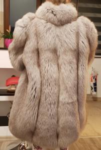 Vand haina de blana naturala,vulpe polara argintie