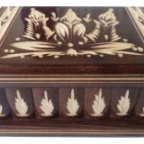 Cutie lemn secreta culoare maro , cutie puzzle cu cheia ascunsa