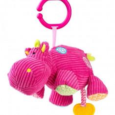 Jucarie muzicala hipopotam Roz