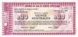 Banncota Argentina 20 Australes 1985 - PNL UNC ( bon ipotecar - Buenos Aires )