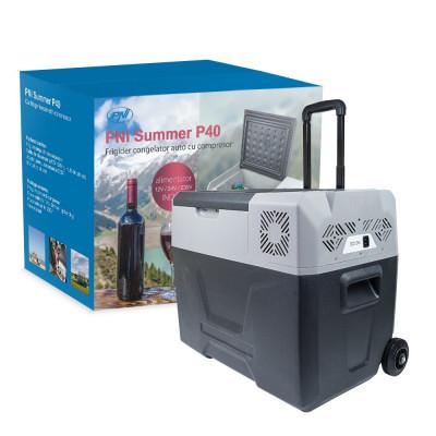 Aproape nou: Frigider congelator auto PNI Summer P40 alimentare 12/24/230V cu roti foto