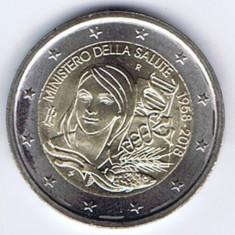 ITALIA moneda 2 euro comemorativa 2018 - Ministerul Sănătății din Italia, UNC