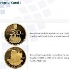 SV * Romania  BNR  500  LEI  2009  31.1 GRAME AUR .999    170 ANI REGELE CAROL I