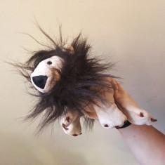 Marioneta leu, papusa de mana, teatru de papusi copii