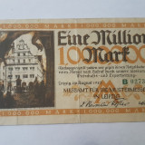Bancnote notgeld Germania - 1 milion marci 1923 - Leipzig
