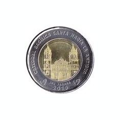 Panama 1 Balboa 2019 - (Catedrala Sf. Maria )Bimetalic, 26.5mm, KM-New UNC !!!, America de Nord