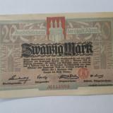 Bancnote notgeld Germania - 20 marci 1918 - Altona