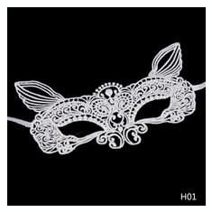 Masca Carnaval Foreplay Adult Venetiana Neagra Black Dantela Halloween Kitty, Marime universala, Alb, Negru
