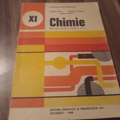 CHIMIE MANUAL CLASA XI SANDA FATU/CORNELIA COSTIN EDITURA DIDACTICA 1995, Clasa 11