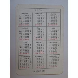 Calendar de buzunar Alimentara 1975