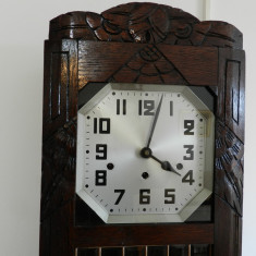 Pendula,ceas de perete nemtesc,KIENZLE 1930,bataie sferturi, garantie