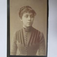 Rara! Fotografie pe carton 108 x 64 mm Varset/Banatul de Sud oc.Austro-Ungara