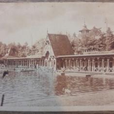 Ocna Sibiului, vederea lacului Horia// CP, Circulata, Fotografie