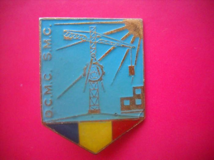 HOPCT ROMANIA INSIGNA VECHE MILITARA GENIU DCMC SMC TRICOLOR