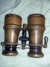 Ochean/ Binoclu militar Vechi,binoclu vechi alama,patina deosebita,T.GRATUIT foto