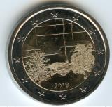 moneda 2 euro comemorativa FINLANDA 2018_Cultura finlandeză a Saunei, UNC