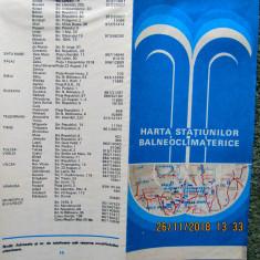 HARTA STATIUNILOR BALNEOCLIMATERICE DIN ROMANIA.