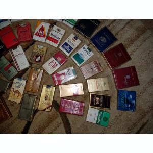 Vand colectie 41 pachete tigari foarte rare