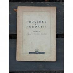 PROCEDEE DE FUNDATII - HUGO LEHR VOL. 1