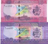 Bancnota Insulele Solomon 10 si 20 Dolari (2017) - PNew UNC ( set x2 )