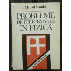 PROBLEME DE PERFORMANTA IN FIZICA - MIHAIL SANDU