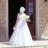 Rochie de mireasa Mirandi, cu voal și crinolină, tip prințesă, Rochii de mireasa printesa