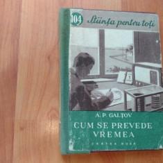CUM SE PREVEDE VREMEA-A. P. GALTOV