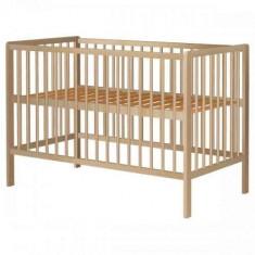 Patut din lemn pentru copii, 0-3 ani, 120x60 cm, natur