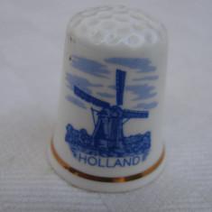 Degetar din portelan Fine Bone China inscriptionat Holland, Decorative
