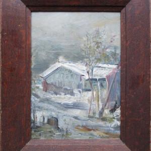 Peisaj de iarna - semnat  Baesu