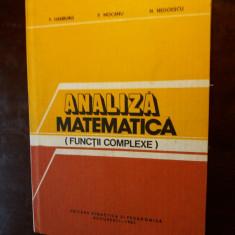 analiza matematica (functii complexe)  hamburg si altii