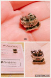 Talisman Pandora original argint 925, saniuta cu granat, model retras