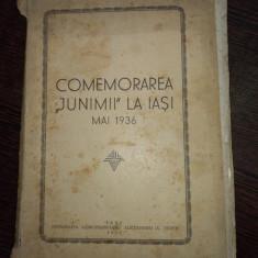 COMEMORAREA JUNIMII LA IASI MAI 1936